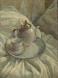 Белый натюрморт, 70х50, к/м